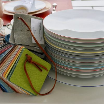 Dinnerware colored