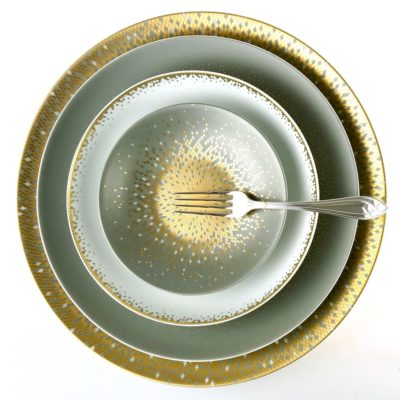 Dinnerware with gold
